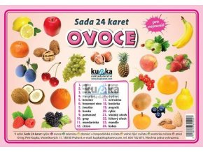 Ovoce - Sada 24 karet, Petr Kupka