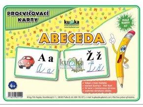 Procvičovací karty - abeceda - (malé, A7), Petr Kupka