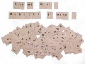 Písmena a slabiky pro skládání slov