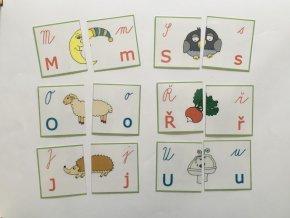 Montessori - Skládačka 4 podoby písmen