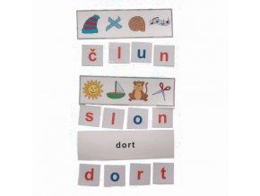Montessori - Skrytá slova 2