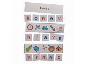 Montessori - Skrytá slova 3