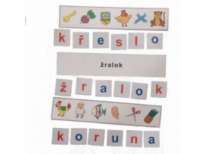 Montessori - Skrytá slova 4