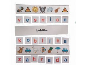 Montessori - Skrytá slova 5