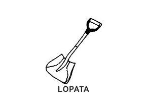 Obrázkové razítko - LOPATA