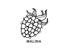 Obrázkové razítko - MALINA