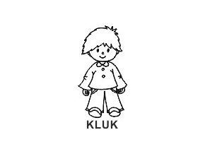 Obrázkové razítko - kluk RUDA