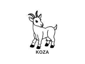 Obrázkové razítko - KOZA