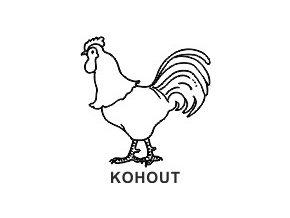 Obrázkové razítko - KOHOUT