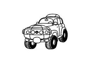 Obrázkové razítko - TERÉNNÍ AUTO