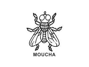 Obrázkové razítko - MOUCHA