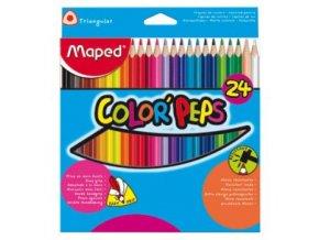 Pastelky trojhranné Maped Color´Peps, 24 ks