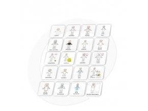 Set 20 ks piktogramů - Osoby 1