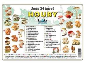 Houby - sada 24 karet A7