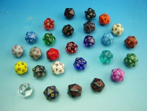Kostky D20 - mix signature