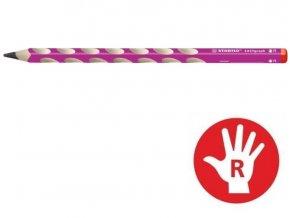 STABILO EASYgraph tužka 322/01-HB RŮŽOVÁ pro praváky