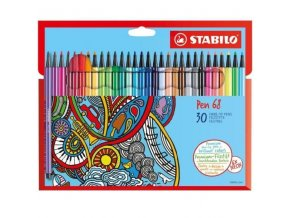STABILO Pen 68 sada 24+6 neon