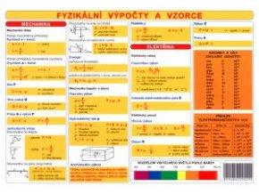 Tabulka Fyzikální veličiny a jednotky fyzikální výpočty a vzorce