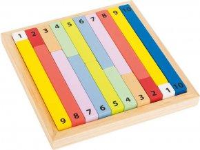 Edukativní tabulka barevná - kalkulačka