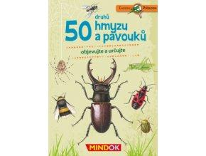 50 druhu hmyzu a pavouku