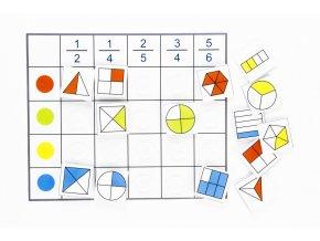 Třídící tabulky - zlomky