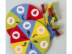 Kolíčky, počty a 4 barvy