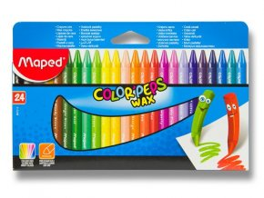 Voskovky trojhranne Color Peps Wax 24ks