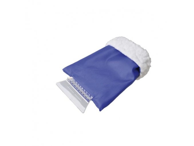 Škrabka na led s rukavicí modrá