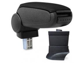 Loketní opěrka Fiat 500 (Materiál Textilní potah opěrky, Barva Černá barva)
