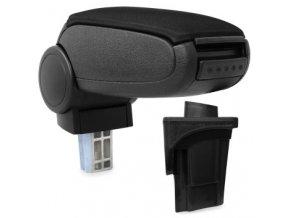 Loketní opěrka Seat LEON 2 (1P) (Materiál Textilní potah opěrky, Barva Černá barva)