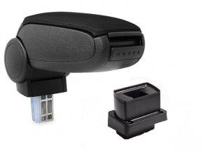 Loketní opěrka VW BORA - plastový adaptér (Materiál Textilní potah opěrky, Barva Černá barva)