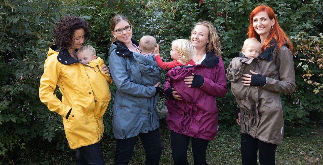 Dámské kabáty na nošení dětí Loktu She-kolekce 2020