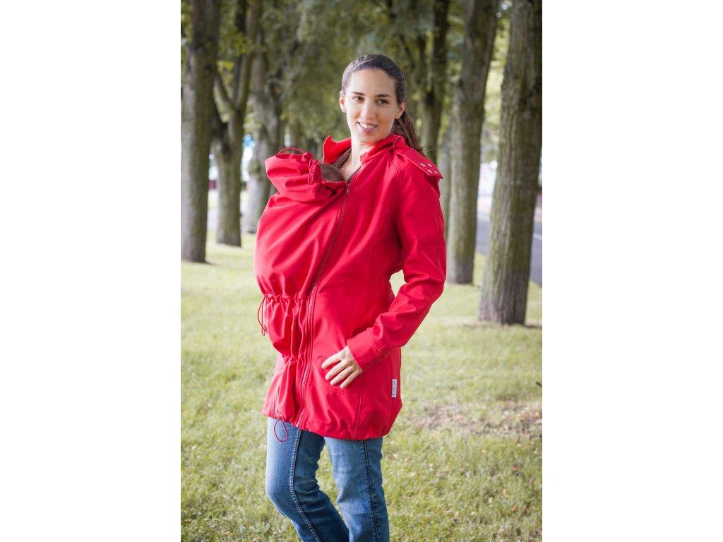 Kabát na nošení dětí - barva červená