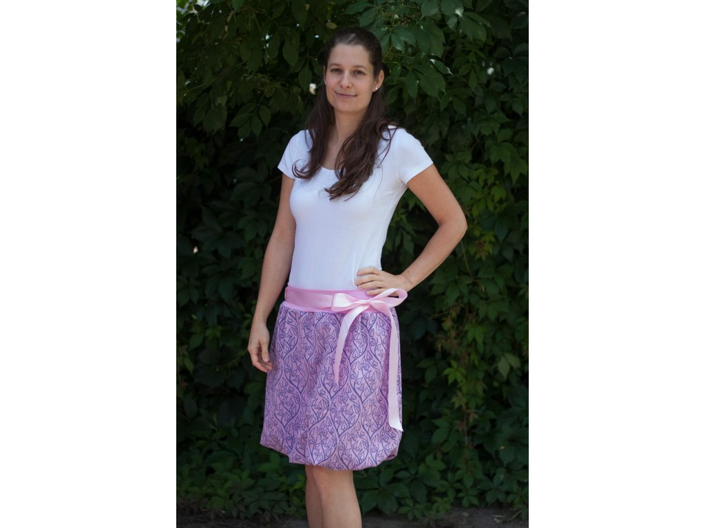 Dámská balónová sukně Bird Garden Pink-Blue
