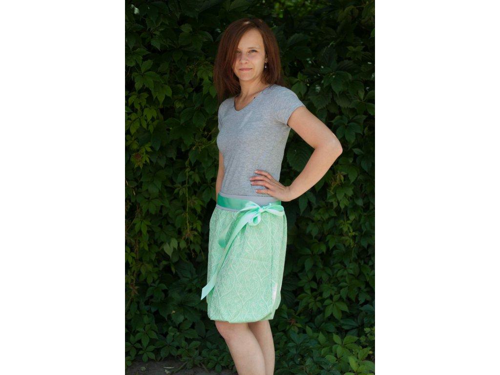 Dámská balónová sukně Bird Garden Mint