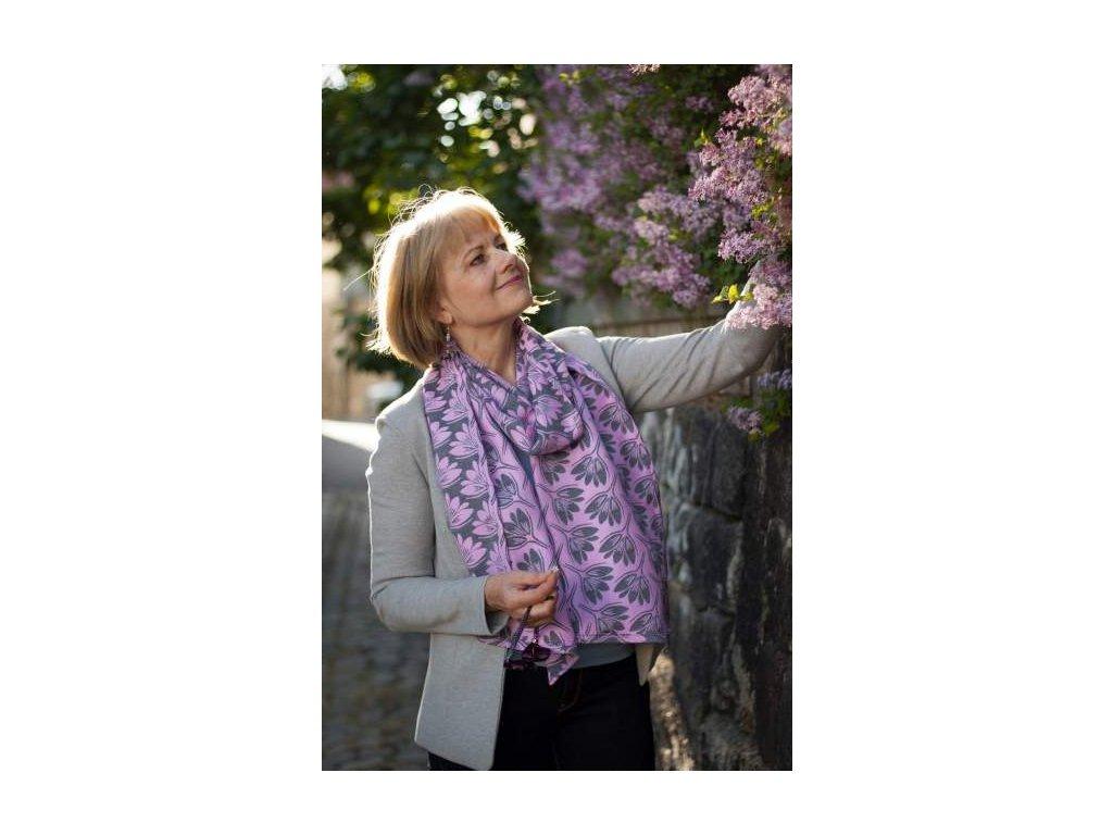 Dámská šála Rhododendrons Hope