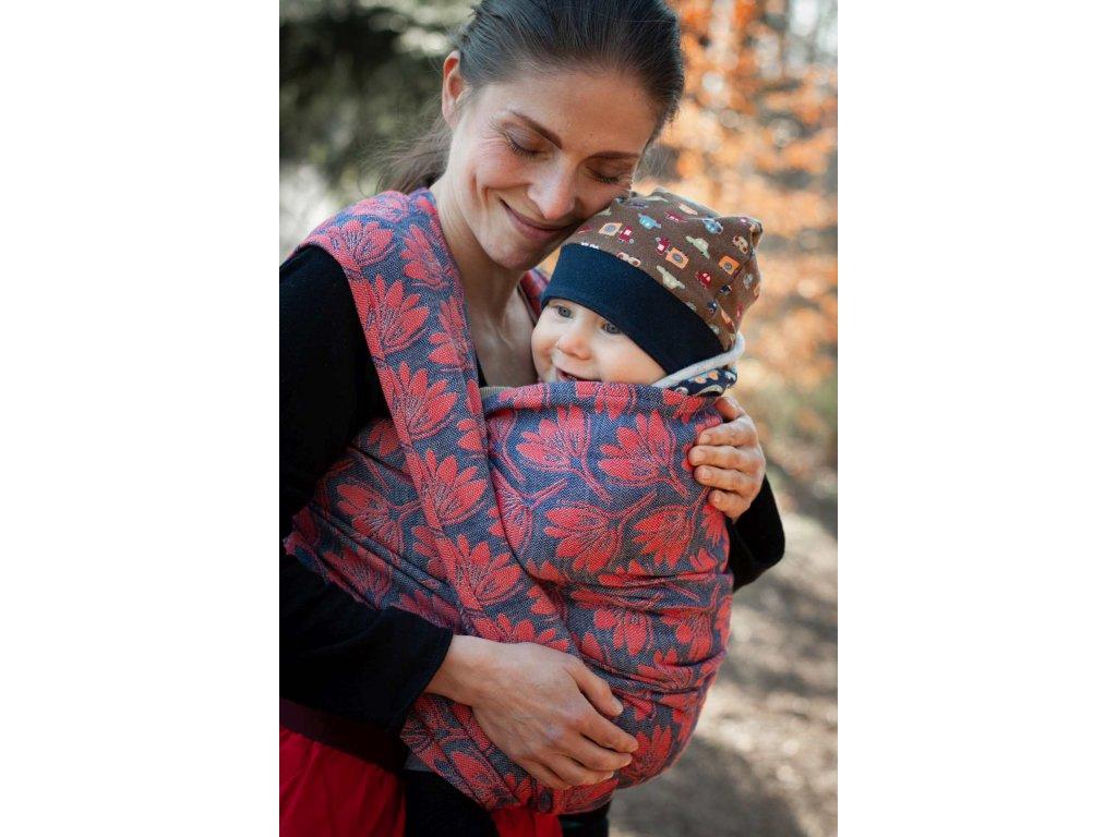 Rhododendrons Tango - šátek na nošení dětí