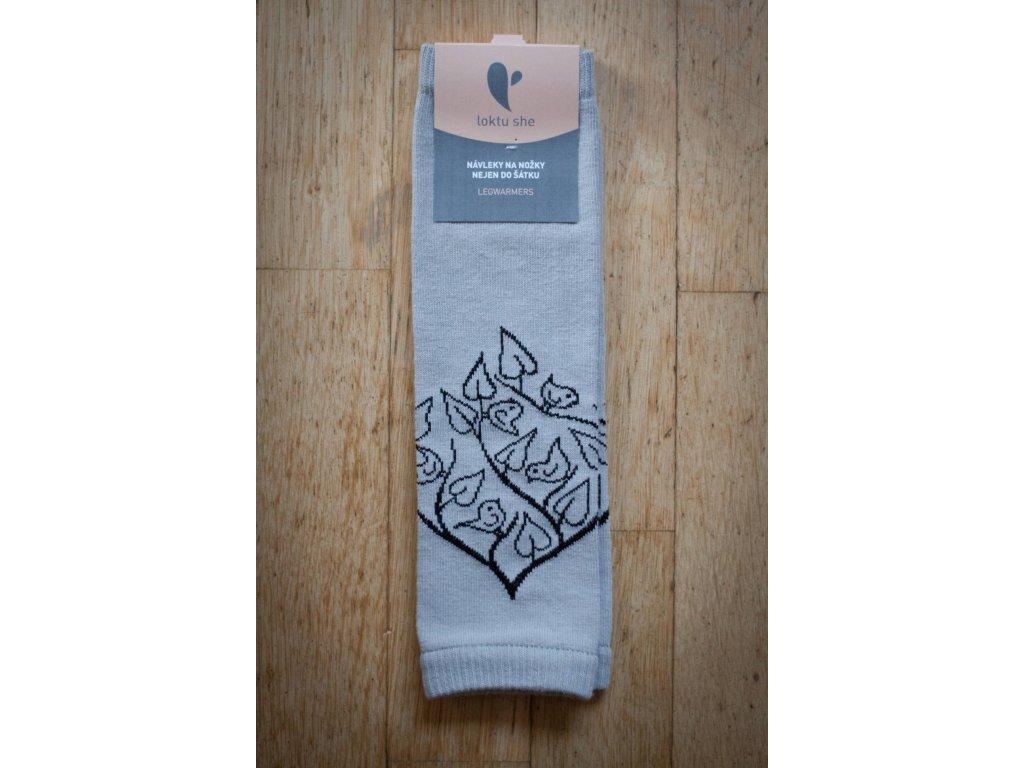 Návleky na nožky Bird Garden - světle šedé
