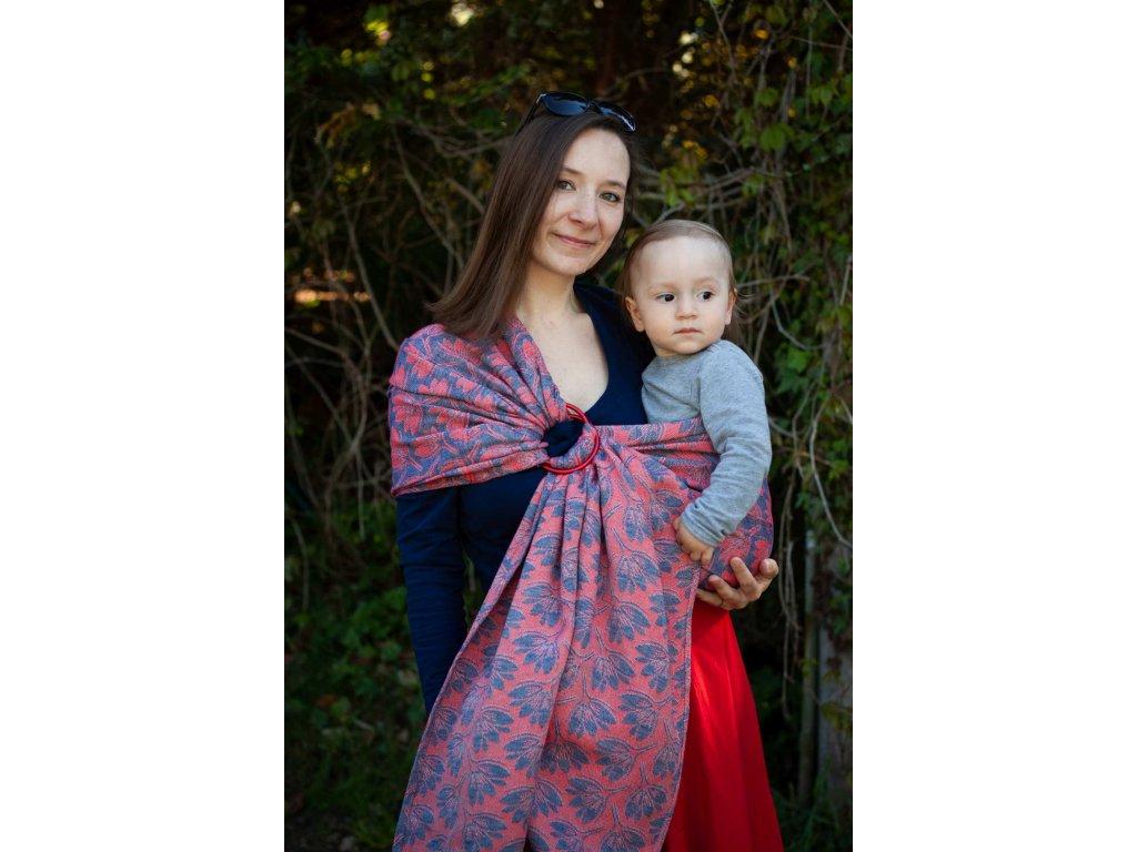 Ring sling Rhododendrons Tango - šátek na nošení dětí