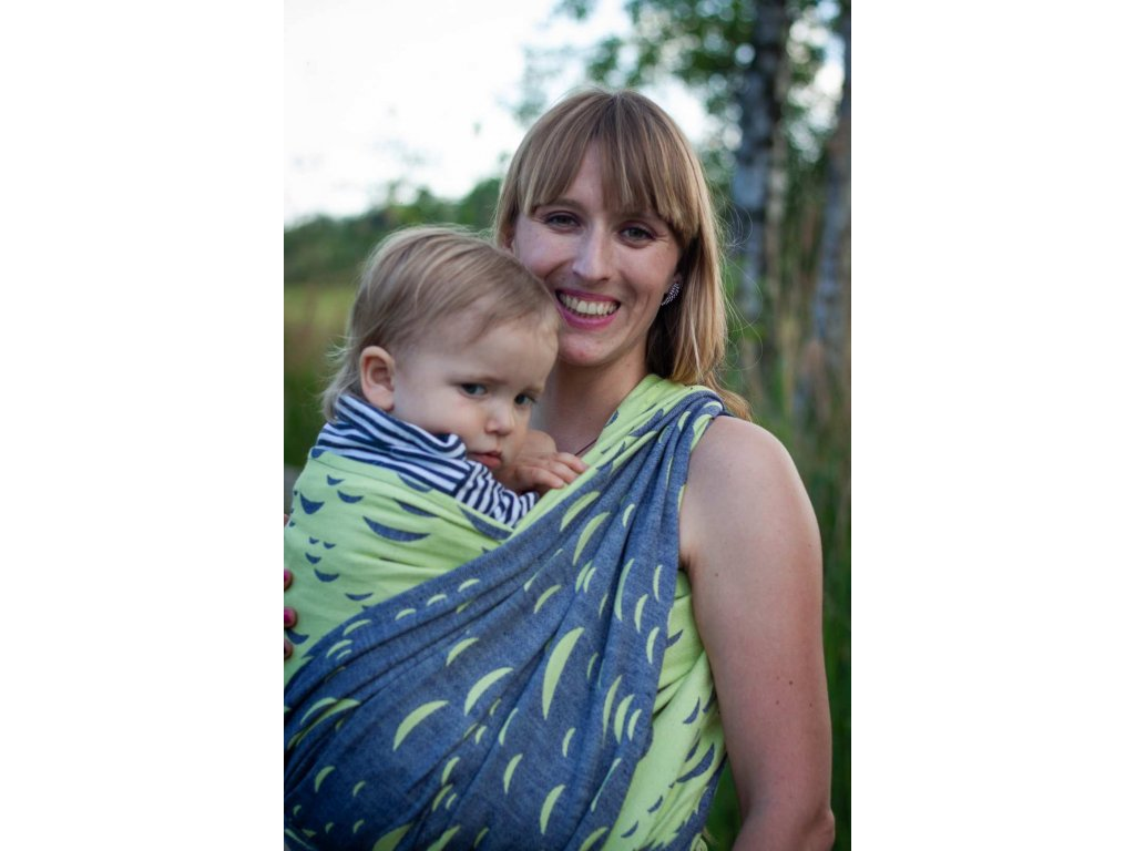 Vltava Meander - šátek na nošení dětí