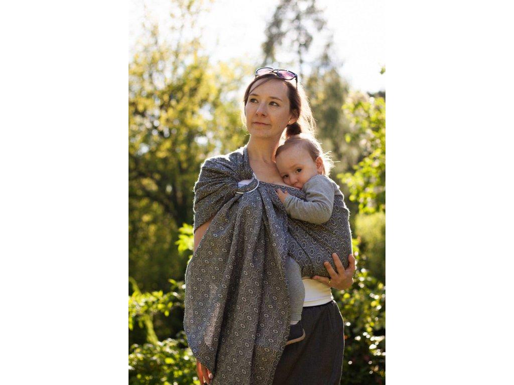 Ring Sling Soffa Steel - šátek na nošení dětí