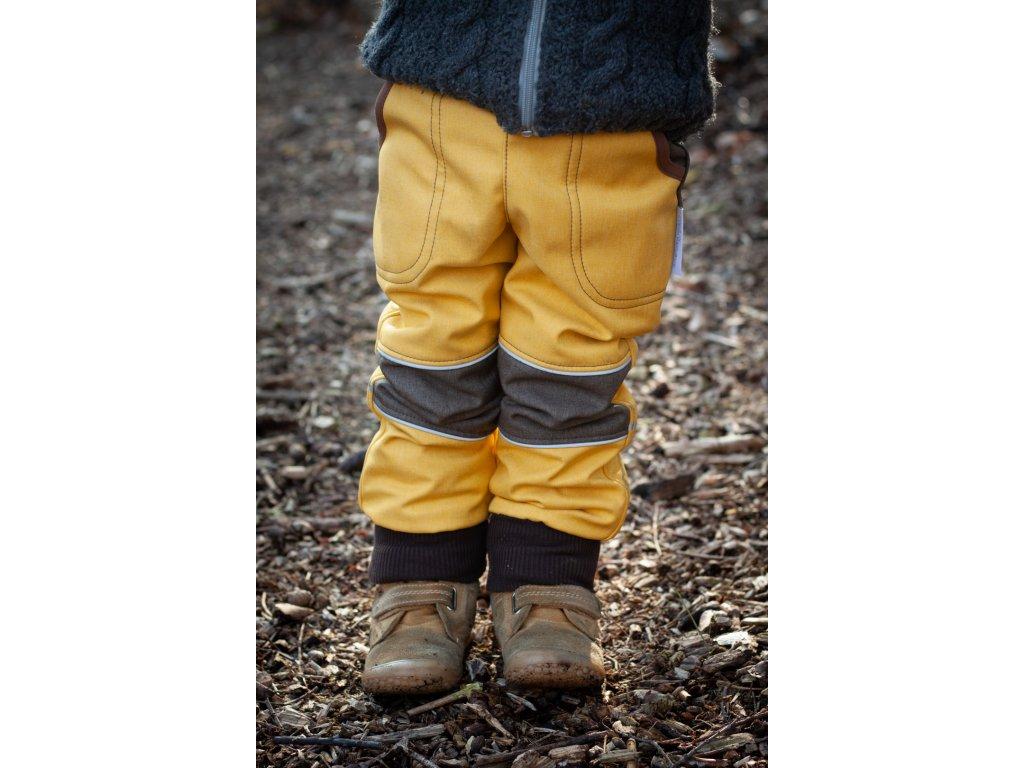 Softshellové kalhoty - žluté