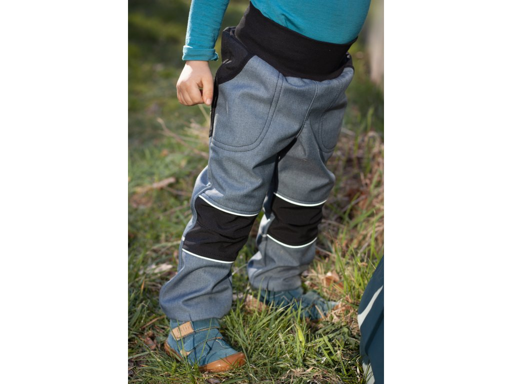 Softshellové kalhoty - modrošedé