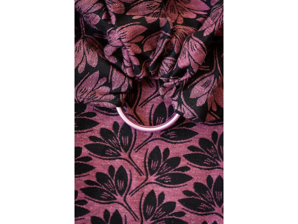Ring sling Rhododendrons Habibi - šátek na nošení dětí