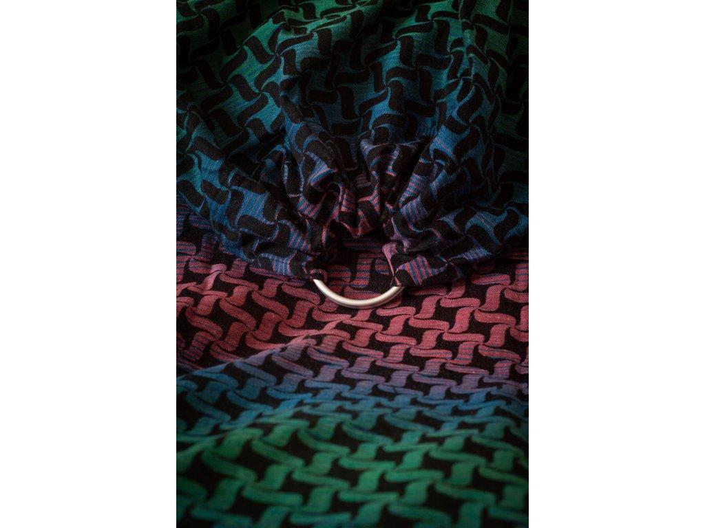 Ring Sling Twist Nordlys - šátek na nošení dětí