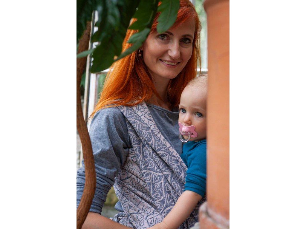 Bird Garden Bretagne - II. jakost - šátek na nošení dětí