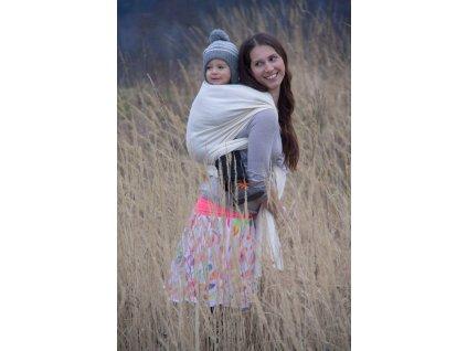 Bird Garden Cream - šátek na nošení dětí