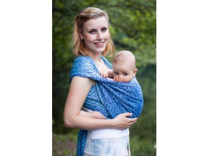 Bird Garden Cornflower - šátek na nošení dětí
