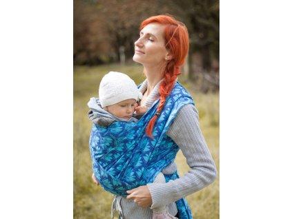 Rhododendrons Blue - šátek na nošení dětí
