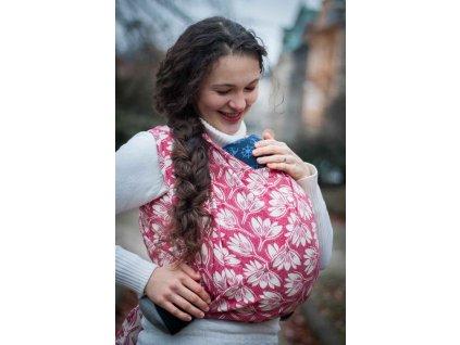 Rhododendrons Ruby - šátek na nošení dětí